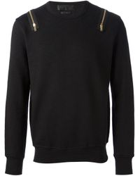 Alexander McQueen - Black Zip Sweater for Men - Lyst