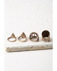 Forever 21 | Metallic Faux Stone Ring Set | Lyst