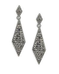 R.j. Graziano Metallic Pave Teardrop Earrings