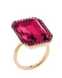 Michael Kors Metallic Parisian Jewels Cocktail Ring