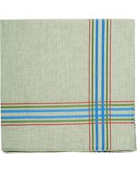Simonnot Godard Green Montmartre Handkerchief for men