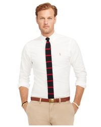 Polo Ralph Lauren - White Big And Tall Classic-fit Oxford Shirt for Men - Lyst