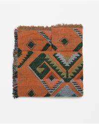 Zara | Orange Geometric Print Scarf | Lyst