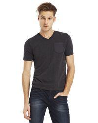 Kenneth Cole | Black Acid Washed Pocket T-Shirt for Men | Lyst