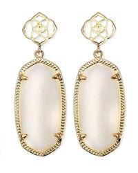 Kendra Scott - Debbie Glass Drop Earrings White - Lyst