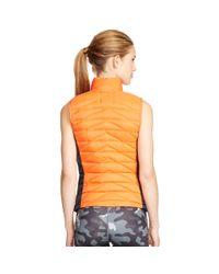 Ralph Lauren - Orange Color-blocked Down Vest - Lyst