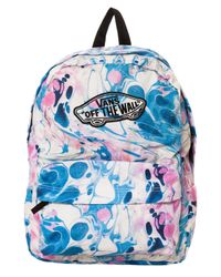 Vans The Realm Backpack In Marble Blue Lyst