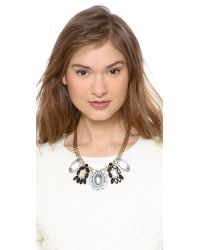 Lulu Frost - Metallic Signet Necklace - Lyst