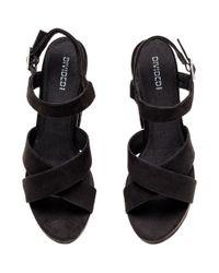 H&M Black Platform Sandals