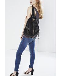 Rebecca Minkoff Natural Julian Backpack With Fringe