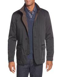 Bugatchi Blue Utility Jacket for men