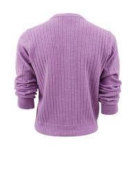 Marc Jacobs - Purple Quarter Sleeve Jewel Button Sweater - Lyst