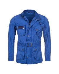 Barbour Blue Triumph Shield Jacket for men