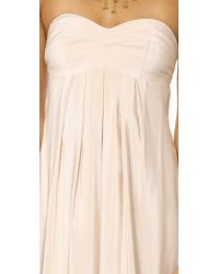 Amanda Uprichard - White Tie Back Silk Maxi Dress - Lyst