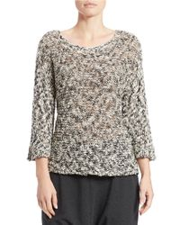 Eileen Fisher Natural Petite Chunky Open-knit Sweater
