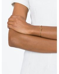 JvdF | Metallic Gold Plated Sterling Silver Thin Angle Bangle | Lyst