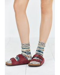 Urban Outfitters - Multicolor Patterned Slouchy Crew Sock - Lyst