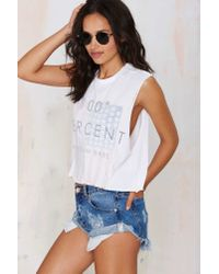 The Laundry Room - White 100 Percent American Muscle Tee - Lyst