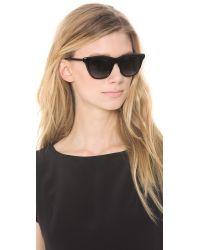 Elizabeth and James Talbert Polarized Sunglasses Shiny Blacksmoke Grad Polar