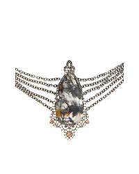 Bochic - Metallic Moss Agate Diamond and Orange Sapphire Choker - Lyst