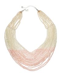 Nakamol - Pink Layered Bead Statement Necklace - Lyst