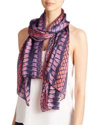 Proenza Schouler | Pink Floral Silk Scarf | Lyst