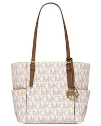Michael Kors | Brown Michael Medium East West Signature Tote | Lyst