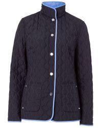 Basler Blue Quilted Reversible Jacket