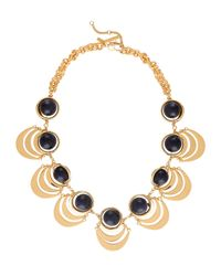 Lele Sadoughi | Black Orbit Beaded Tiered-disc Necklace | Lyst