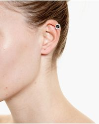 Yvonne Léon | White Black Onyx And Diamond Ear Cuff | Lyst