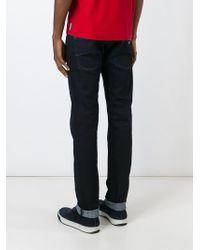 Armani Jeans   Blue Straight Leg Jeans for Men   Lyst