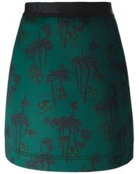 KENZO | Green 'bamboo Tiger' Skirt | Lyst
