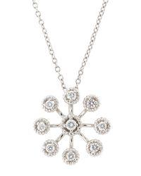 Roberto Coin - White Art Nouveau Starburst Diamond Necklace - Lyst
