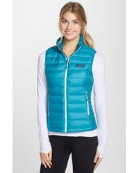 Patagonia | Gray Quilted Shell Vest | Lyst