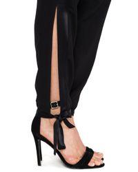 Halston Black Ankle Tie Pants