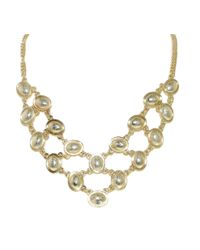 1928 | Metallic Bombay Oval Bib Necklace | Lyst