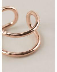 Coops London | Metallic Double Hoop Squeeze On Earrings | Lyst