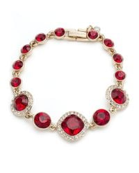 Givenchy | Metallic Faceted Scatter Bracelet- Red | Lyst