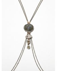 Free People | Metallic Labradorite Body Chain | Lyst