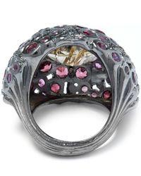 Stephen Dweck Purple Garnet Rutile Orb Ring