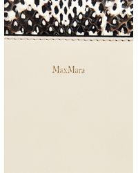 Max Mara Multicolor J Snakeskin And Leather Bag