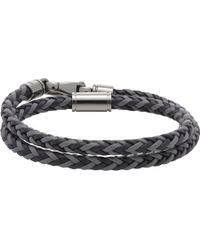 Tod's Gray My Colors Leather Wrap Bracelet for men