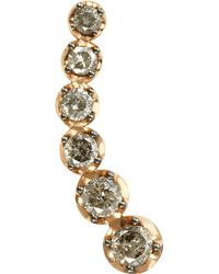 Annoushka - Multicolor Dusty Diamonds 18ct Rose-gold And Diamond Right Ear Pin - Lyst