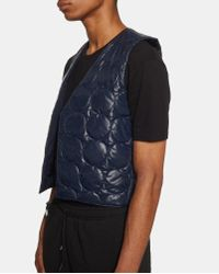 Nasir Mazhar Blue Quilted Waistcoat for men