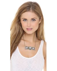 Pamela Love Metallic Step Breastplate Necklace