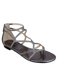Ivanka Trump | Metallic Beauty Caged Sandals | Lyst