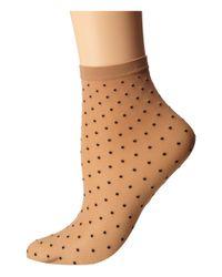 Wolford | Brown Daria Socks | Lyst