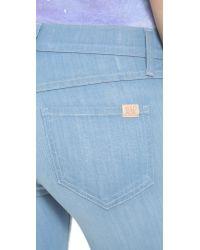 Wildfox Blue Farrah High Rise Flare Jeans