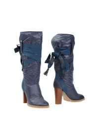 See By Chloé | Blue Boots | Lyst