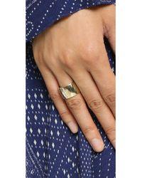 Shashi - Metallic Cameron Ring - Lyst